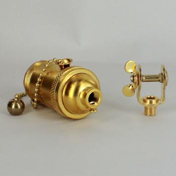 Unfinished Brass Bridge Lamp Style Uno Threaded E-26 Base Cast Brass Pull Chain Socket