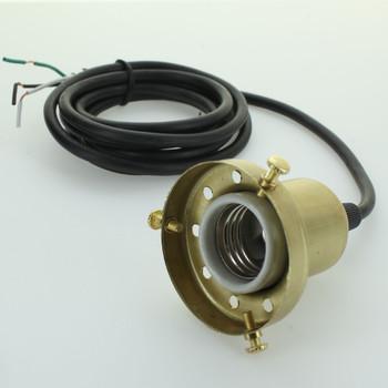 2-1/4 Fitter Pendant Holder Unfinished Brass Lamp Kit