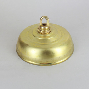 1-1/16in Center Hole - Spun Chatham Canopy Kit - Unfinished Brass