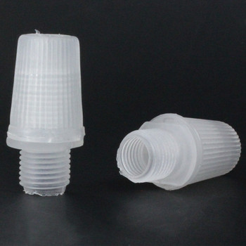1/8ips Male Threaded Plastic Strain Relief - Clear