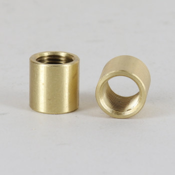 1/8ips Female Threaded Plain Bushing Cap - Unfinished Brass