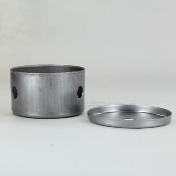 2-1/2in Diameter X 1-1/2in Height 3 Side Hole Unfinished Steel Body with Cap