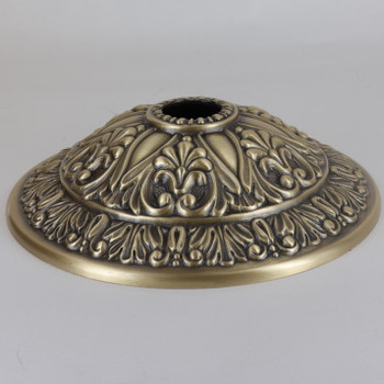 1-1/16in Center Hole - Cast Brass Six Point Canopy - Antique Brass Finish