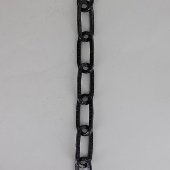Black Finished Embossed Square Link Steel Chain.