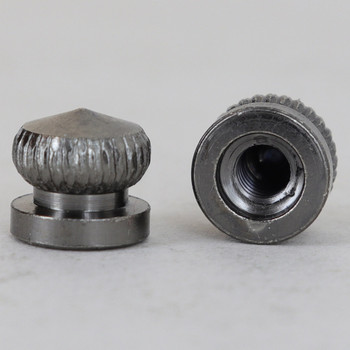 8/32 UNC - 5/16in x 5/16in Knurled Acorn - Black Nickel Plated