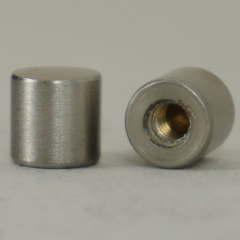 8/32 UNC - 5/16in X 5/16in Cylinder Finial - Satin Nickel
