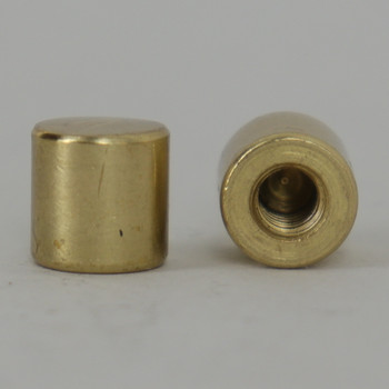 8/32 UNC - 5/16in X 5/16in Cylinder Finial - Polished Brass Finish
