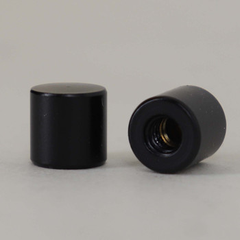 8/32 UNC - 5/16in X 5/16in Cylinder Finial - Black Finish
