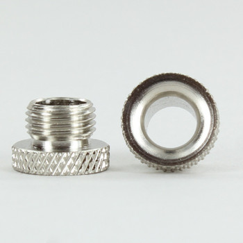 1/8ips. Male Threaded Brass Cord Inlet Knurled Bushing - Nickel Plated