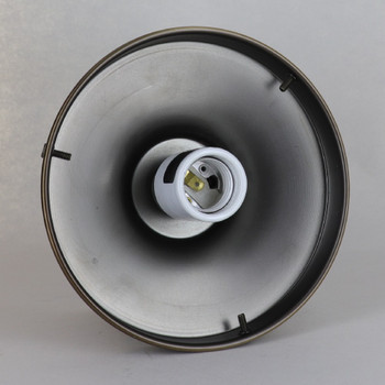 6in. Fitter Semi-Flush Lighting Fixture - Antique Brass