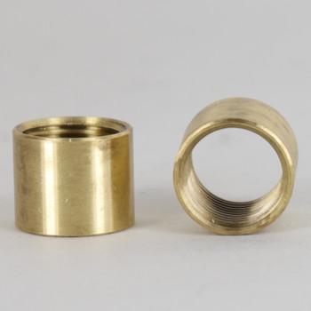 5/8in Height X 3/4in Diameter - 3/8ips Threaded Brass Coupling