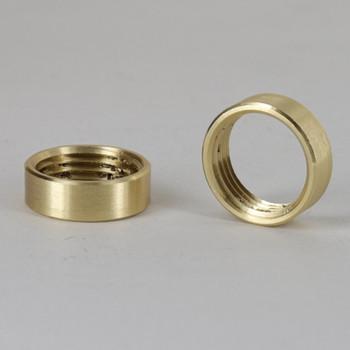 3/8ips - 3/4in Diameter Round Smooth Brass Nut