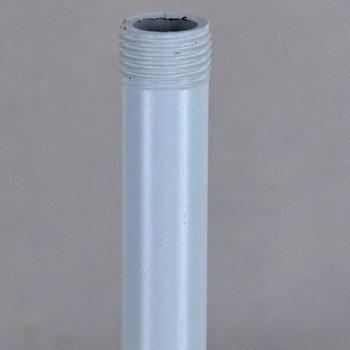 10in Long X 1/8ips (3/8in OD) Male Threaded White Powder Coated Steel Pipe