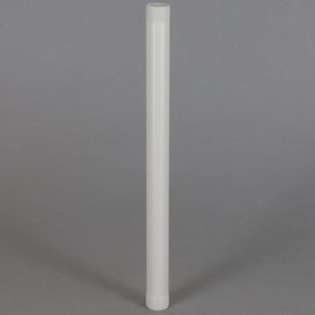 12in Long X 1/8ips (3/8in OD) Male Threaded White Powder Coated Steel Pipe