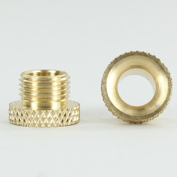 1/8ips. Male Threaded Brass Cord Inlet Knurled Bushing - Brass
