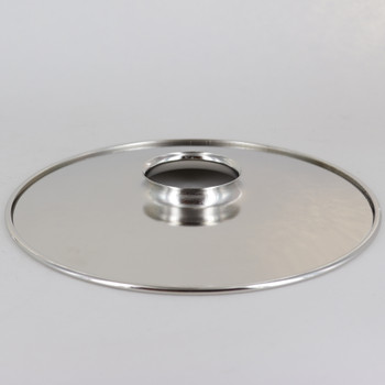 8in. Polished Nickel FInish Steel Flat Shade with Rolled Edge and 2-1/4in. Neck
