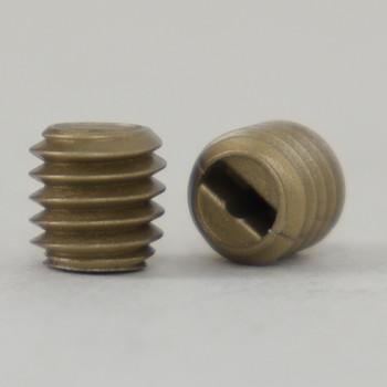 6 MM Nylon Slotted Set Screw Gold