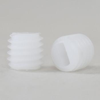 6 MM Nylon Slotted Set Screw White