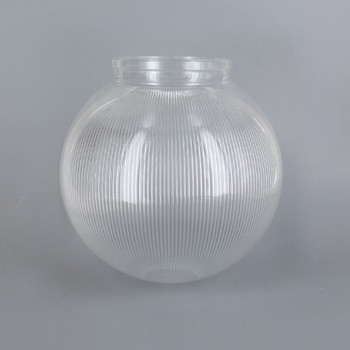 8in Diameter X 4in Necked Fitter Acrylic Neckless Ball - Clear Prismatic