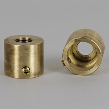 Sleeve For Halogen Socket Threaded For 1/8ips Unfinished Brass With Set Screw