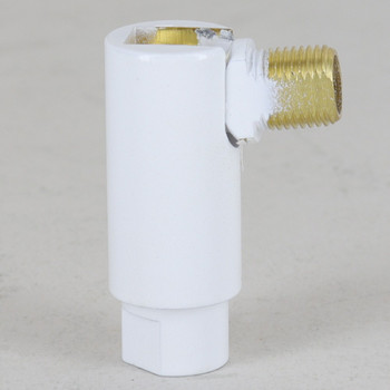 1/8IPS Threaded Adjustable 90 Degree Swivel with 360 Degree Rotation - White Finish