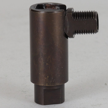 1/8IPS Threaded Adjustable 90 Degree Swivel with 360 Degree Rotation - Oil Rubbed Bronze Finish
