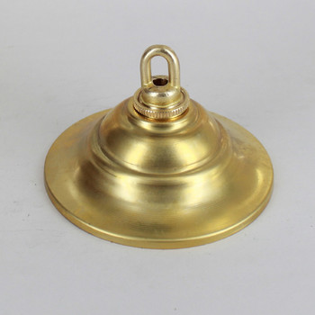 1-1/16in Center Hole - Tapered Spun Canopy Kit - Unfinished Brass