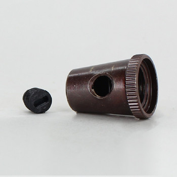 1/8ips Female Threaded Cone Cord Grip with M6 Threaded Nylon Set Screw - Oil Rubbed Bronze Finish