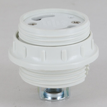 GU24 CFL Lamp Threaded Body and Ring Socket with 1/2in Height Hickey