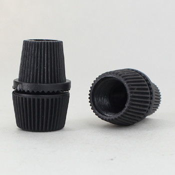 1/8ips Female Threaded BLACK TWO PIECE STRAIN RELIEF FOR SVT WIRE