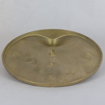 7-1/2in Cast Brass Figurine Base with 1/8ips Threaded Hole