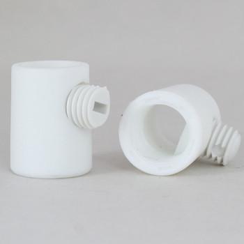 1/8ips Female Threaded Plastic Strain Relief and Nylon  Set Screw - White
