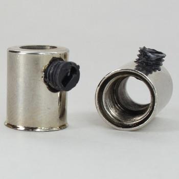 1/8ips Female Threaded Strain Relief and Nylon  Set Screw - Polished Nickel