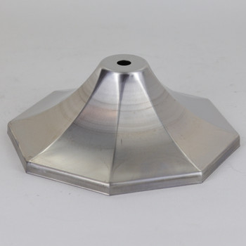 Steel Octagonal Canopy with 1/8ips Slip Center Hole 4-5/8in DIameter X 1-7/8in Height