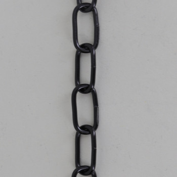 13 Gauge (5/64in) Steel Small Rectangle Steel Chain - Black Finish
