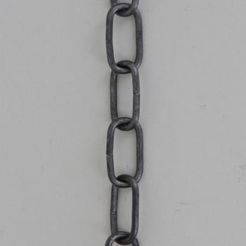 13 Gauge (1/16in) Steel Small Rectangle Steel Chain -  Unfinished Steel