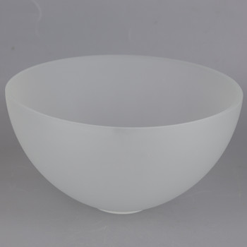8in Diameter Frosted Dome Shade with 1-5/8in Hole