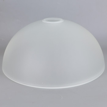 10in Diameter Frosted Dome Shade with 1-5/8in Hole