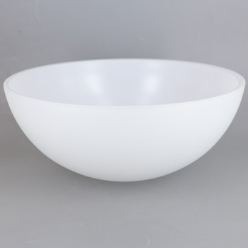 10in Diameter Satin Opal Dome Shade with 1-5/8in Hole