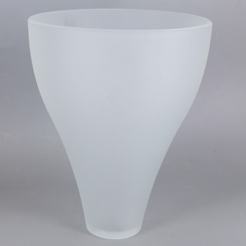 7in Diameter X 9in Height Frosted Teardrop shade with 1-5/8in Hole
