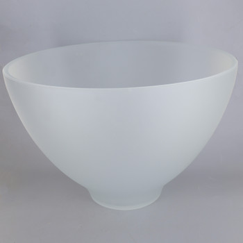 12in Diameter Frosted Bell Dome Glass Shade with 1-5/8in Hole