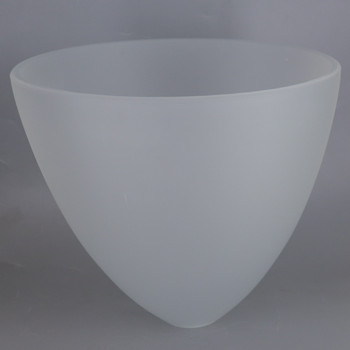 9in Diameter Frosted Tear Drop Cone shade with 1-5/8in Hole