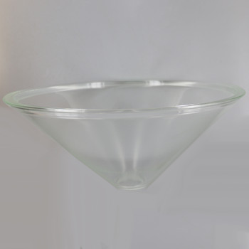 14in Diameter Clear Cone Shade with 1-5/8in Hole