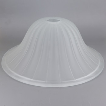 12in Diameter Frosted Bell Shade with 1-5/8in Hole