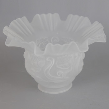 2-1/4in Fitter Frosted Ruffle Shade