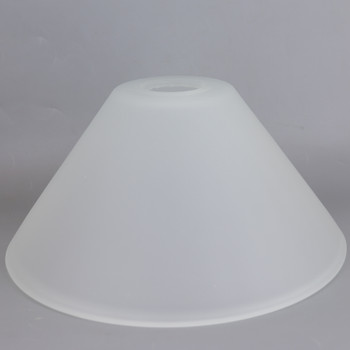 10in Diameter Frosted Cone Shade with 1-5/8in Hole