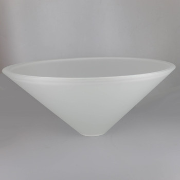 16in Diameter Frosted Cone Shade with 1-5/8in Hole