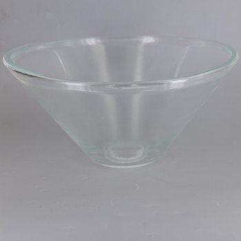 10in Diameter Clear Cone Shade with 1-5/8in Hole