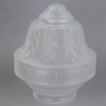 3-1/4in Fitter Frosted Colonial Glass Shade