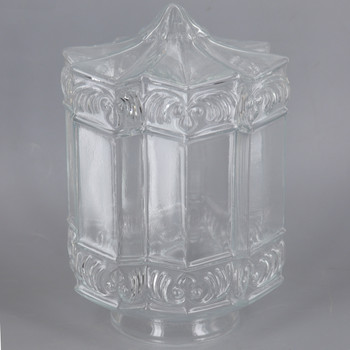 3-1/4in Fitter Clear Hexagonal Glass Shade